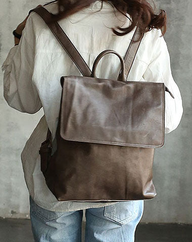 Vintage LEATHER WOMENs Backpack School Backpack Travel Backpack FOR WOMEN