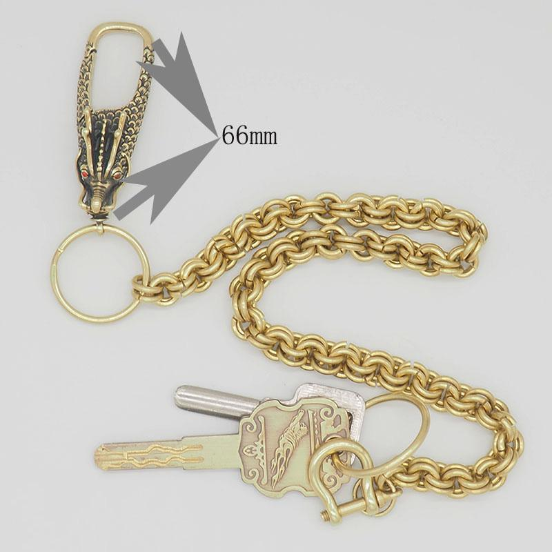 Cool Brass Dragon Punk 19'' Wallet Chain Pants Chain Trucker jeans chain jean chain for Men