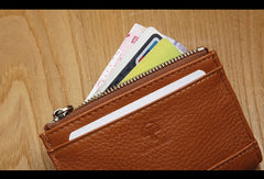 Genuine Leather Cute Short Slim Wallet Change Card Holder Wallet Purse For Women Girl