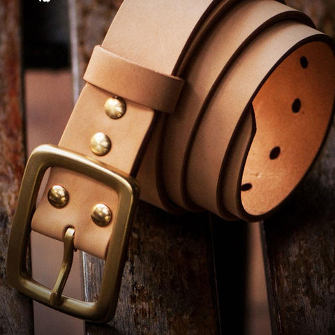 Handmade  Leather Mens Belts Custom Cool Leather Men Black Belts for Men