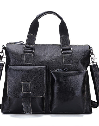 Vintage Leather Men Briefcase Shoulder Bag Work Bag For Men