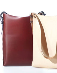 Handmade Leather Shoulder Tote Purse With Matching Wallet for Women