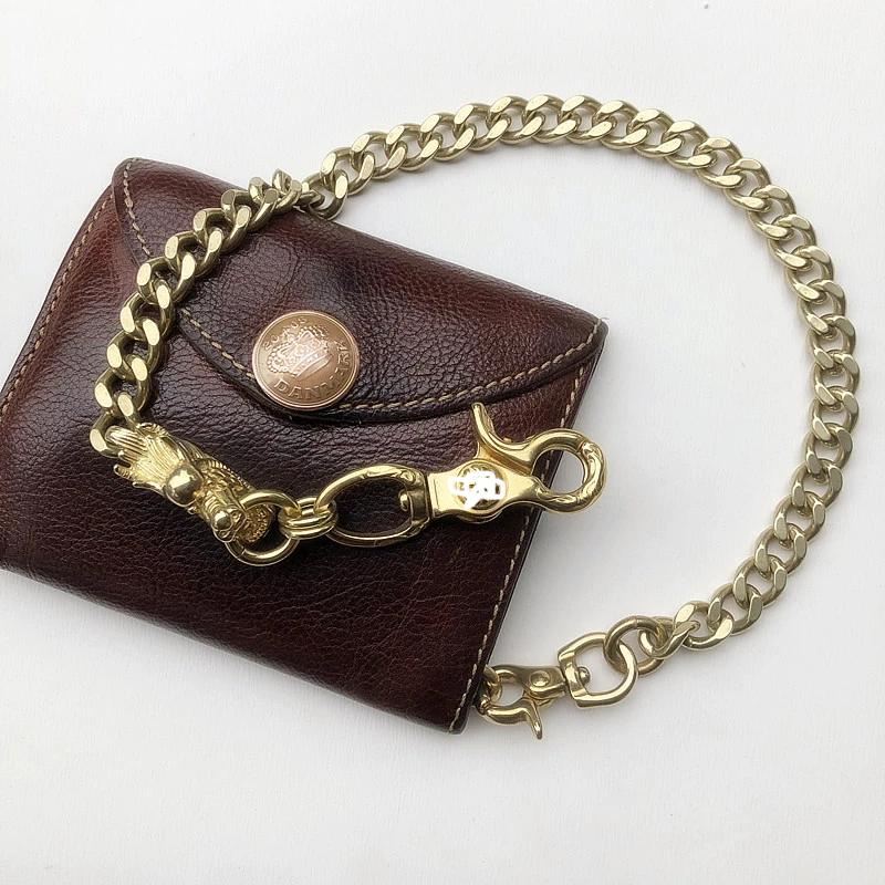 Cool Men's Brass Chinese Dragon 18'' Pants Chains Biker Wallet Chain For Men