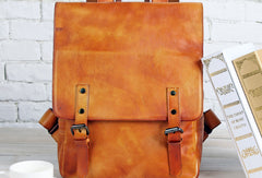 Handmade Mens Leather School Backpack Bag Travel Backpack for Men