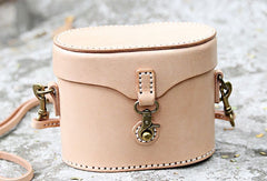 Handmade bucket purse leather crossbody bag purse shoulder bag for women