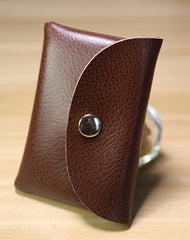 Cute Women Black Leather Mini Coin Wallet Change Wallet For Women