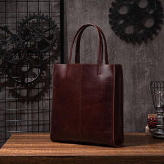 Cool Handmade Leather Mens Tote Bag Cool Messenger Tote Bag Handbag for men