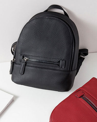 Leather Stylish Womens Small Backpack Mini Travel Backpack Purse for Women