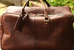 Leather Mens Weekender Bag Cool Travel Bag Duffle Bag Overnight Bag Holdall Bag for men