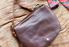 Genuine Leather Saddle Bag Purse Crossbody Bag Shoulder Bag Purse For Women