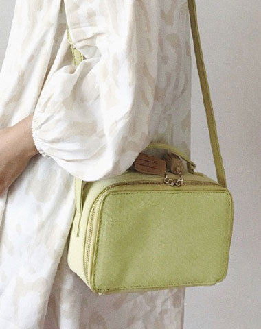Cute Leather Green Womens Mini Box Crossbody Purse Box Shoulder Bag for Women