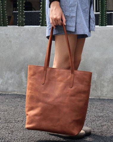 Vintage LEATHER WOMENs Large Tote Bag Work Tote Purse FOR WOMEN