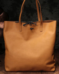 Stylish Style Black Leather Tote Bag Shopper Bag Brown Tote Purse For Women