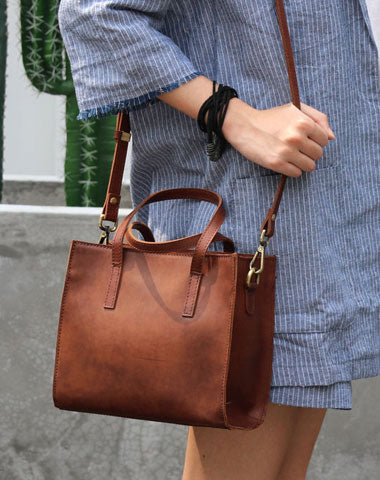 Vintage LEATHER WOMENs Handbag Stylish Shoulder Tote Purse FOR WOMEN