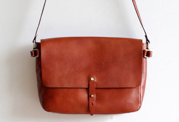 Handmade Leather bag for women leather shoulder bag crossbody bag messenger bag