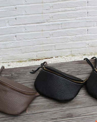 Cute LEATHER WOMEN Small Saddle Bag Crossbody Purse SHOULDER BAG Purse FOR WOMEN