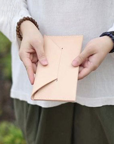 Handmade Cute Leather Womens Envelope Long Wallets Phone Long Wallet for Women