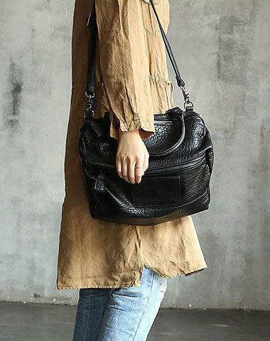 Vintage WOMENs LEATHER Work Handbag Fashion Shoulder Bag Purse FOR WOMEN