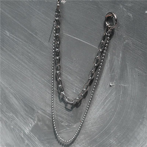 Cool Punk Mens Womens Double Long Pants Chain Wallet Chain Jean Chain For Men