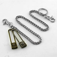 Cool SKull Double Lock Key Chain Long Wallet Chain Pants Chain jeans chain jean chains For Men