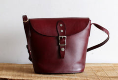 Handmade Leather bag for women leather shoulder bag crossbody bag bucket bag