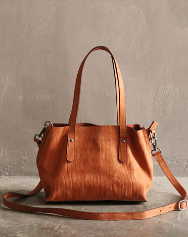 Handmade Brown LEATHER WOMEN Handbag Tote Purse Shoulder Bag FOR WOMEN
