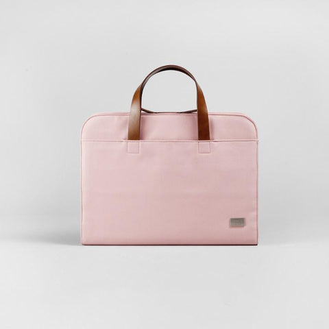 Fashion Oxford Cloth PVC Women Pink Briefcase Business Computer Handbag For Women