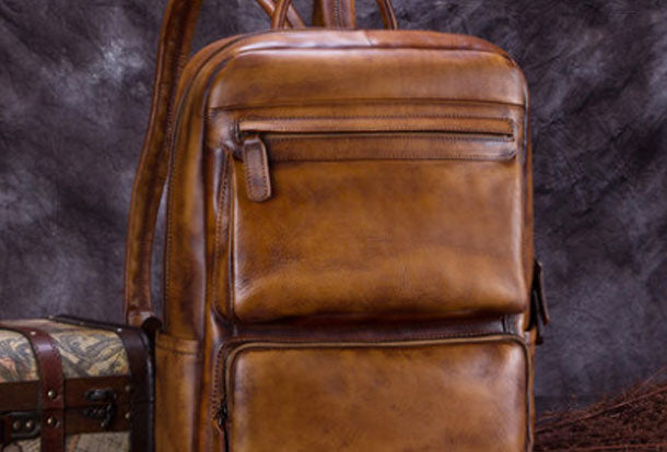 Handmade Leather Womens Backpack Bag School Vintage Backpack Purse for Women