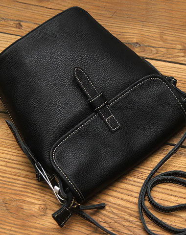 Black LEATHER WOMEN Bucket SHOULDER BAG Barrel Crossbody Purses FOR WOMEN