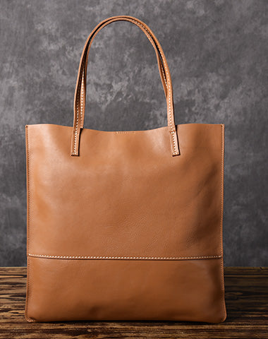 Handmade Women Leather Tote Bag Brown For Women