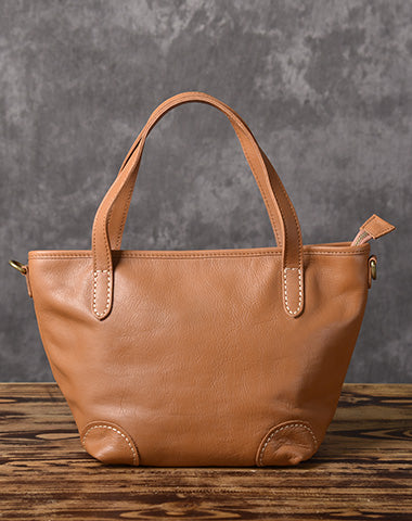 Handmade Leather Women Small Tote Handbag Shoulder Bag For Women