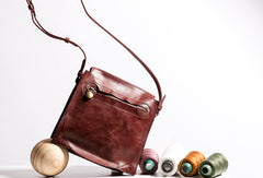 Handmade Leather Purse Messenger Bag Crossbody Bag Shoulder Bag Purse For Women