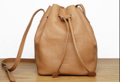 Genuine Leather Cute Bucket Bag Crossbody Bag Shoulder Bag Women Leather Purse