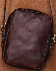 Cool Leather Mens Small Messenger Bag Shoulder Bag Crossbody Bags For Men