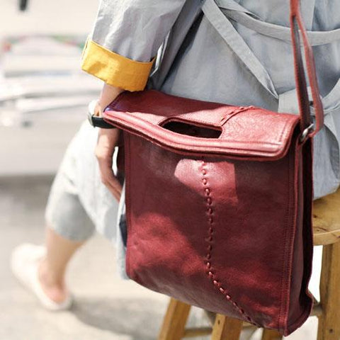 Fashion Women Red Leather Vertical Tote Bag Handbag Shopper Bag Shoulder Bucket Style Purse for Women