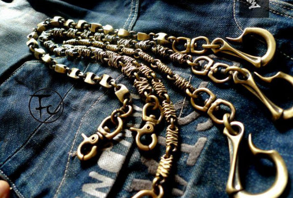 Brass biker trucker dragon hook wallet Chain for chain wallet biker wallet trucker wallet