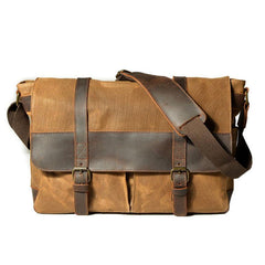 Mens Canvas Messenger Bag Camera Side Bag Courier Bag Shoulder Bag for Men