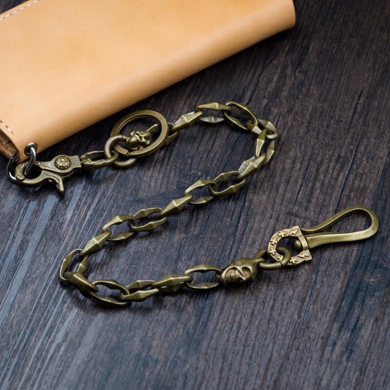 Solid Men's Handmade Horseshoe Buckle Key Chain Pants Chains Biker Wallet Chain For Men