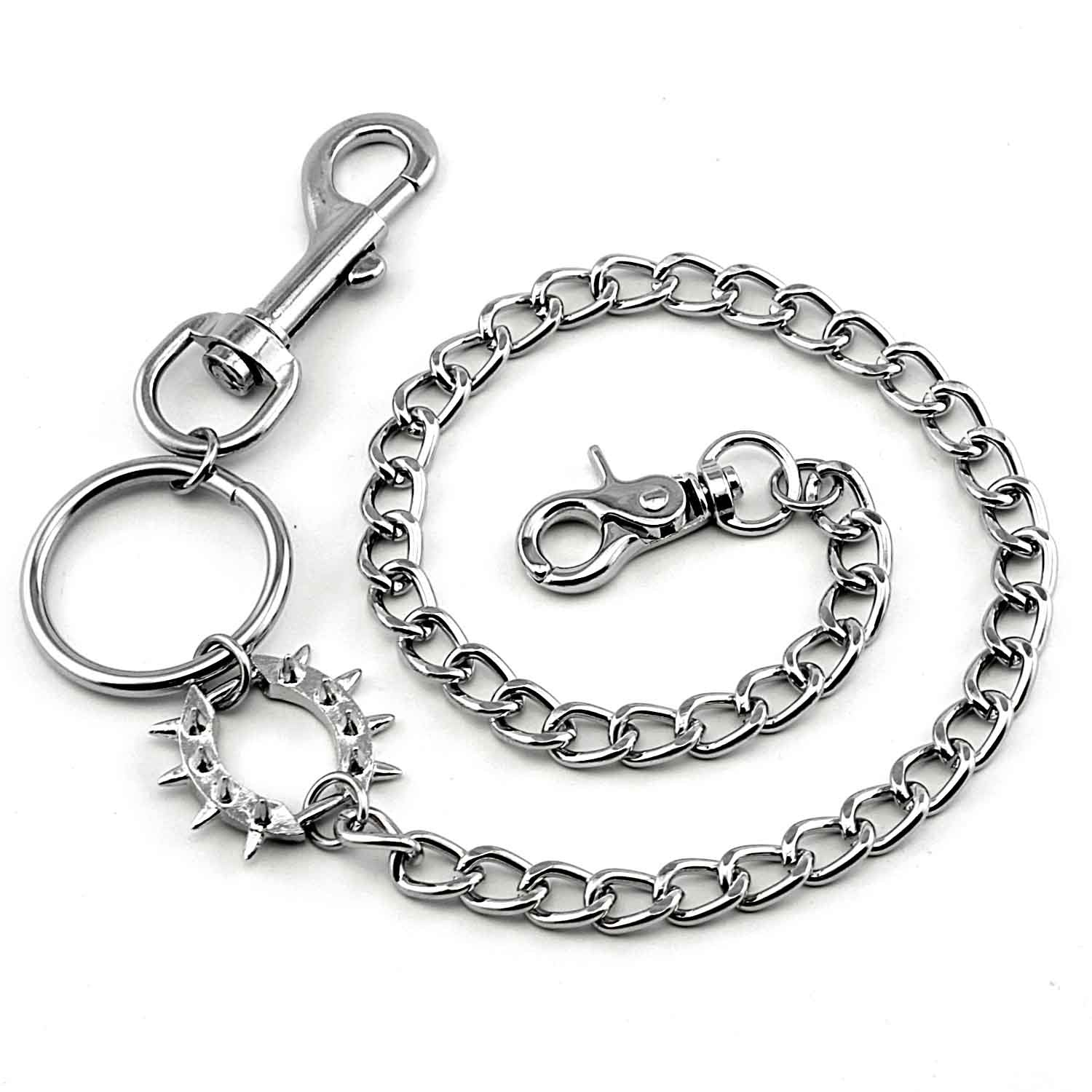 Badass Silver Punk Mens Wallet Chain Pants Chain Long Biker Wallet CHain For Men