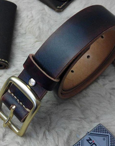 Handmade Vintage Leather Mens Belts Men Leather Belt for Men
