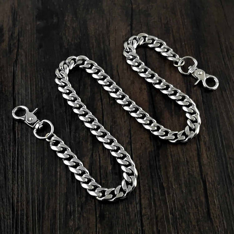 16'' SOLID STAINLESS STEEL BIKER SILVER WALLET CHAIN LONG PANTS CHAIN jeans chain jean chain FOR MEN