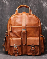 Cool Leather Mens 15inch Computer Bag Satchel Backpacks Travel Backpack Backpack for Men