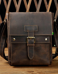 Cool Retro Leather Mens Tablet Messenger Bag Small Side Bag Messenger Bag For Men