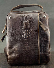 BADASS BROWN LEATHER MEN'S SLING BAG ONE SHOULDER BACKPACK CHEST BAG SLING BAG FOR MEN
