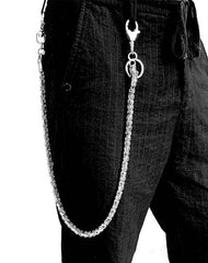 Badass Dragon Silver Long Biker Chain Wallet STAINLESS STEEL Pants Chain Wallet Chain For Men