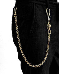 Badass Gold Snake Long Biker Wallet Chain Pants Chain Wallet Chain For Men