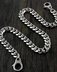 Badass Silver Mens Long Biker Wallet Chain Wallet Chain Pants Chain For Men