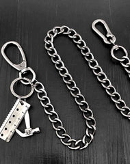 Badass Silver Mens Pants Chain Wallet Chain Long Wallet Chain Key Chain For Men