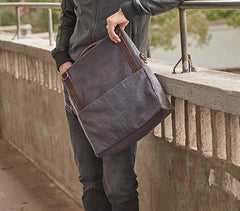 Mens Canvas Gray Cool Courier bag Messenger Bag Canvas Side Bag for Men