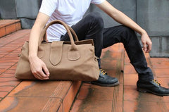 Cool Leather Mens Weekender Bag Travel Bags Shoulder Bags for men
